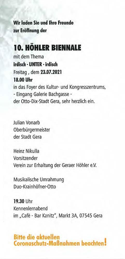 Gera Höhler Biennale 2021